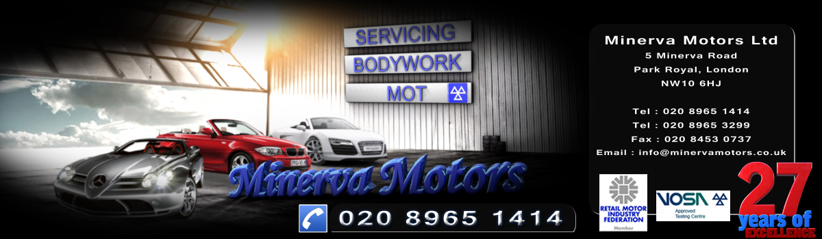 Minerva Motors - Servicing, Bodywork and MOT's in Park Royal NW10
